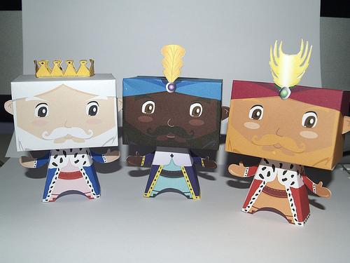 Colección con los mejores Paper Toys para Navidad - reyes-magos-paper-toys