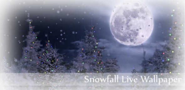 Colección de Live Wallpapers navideños para Android - snowfall-live-wallpaper-590x288