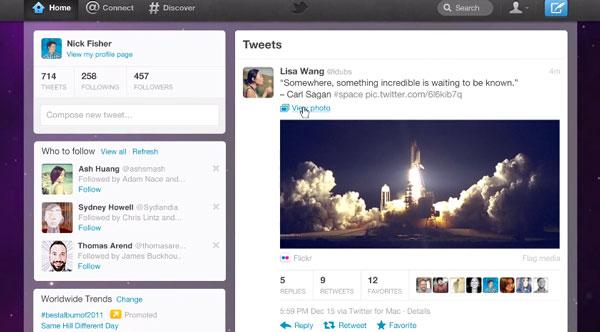 Twitter renueva su interfaz web y en los dispositivos móviles