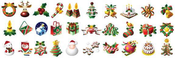 xmas icons Colección de vectores de Navidad para tus diseños