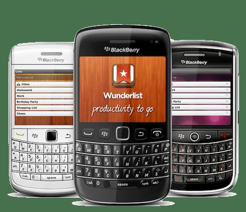 WUNDERLIST blackberry Wunderlist, una de las mejores apps de tareas ahora esta disponible para BlackBerry