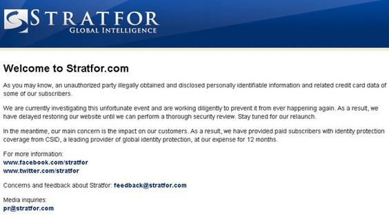 El ataque a la red Stratfor podría revelar información clasificada - esp-stratfor-hackers