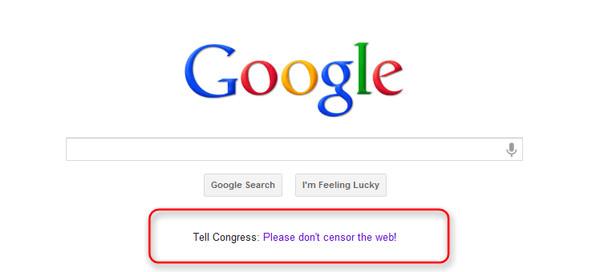 Wikipedia lidera el apagón como protesta contra la ley SOPA - google-sopa