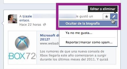 Como personalizar tu Nueva Biografía de Facebook - ocultar-publicaciones-biografia-facebook