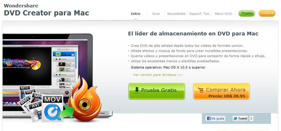 DVD Creator para Mac ahora en español - wondershare-dvd-creator-mac