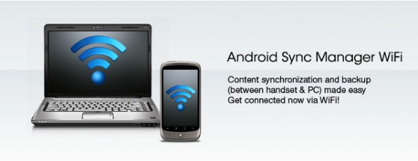 Android Sync MAnager WiFi 590x228 Android Sync Manager Wifi sincroniza tu Android sin necesidad de cables