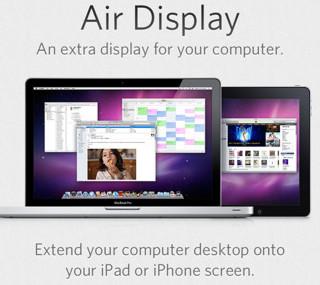 air display1 Tres aplicaciones para utilizar tu iPad como segundo monitor en tu computadora