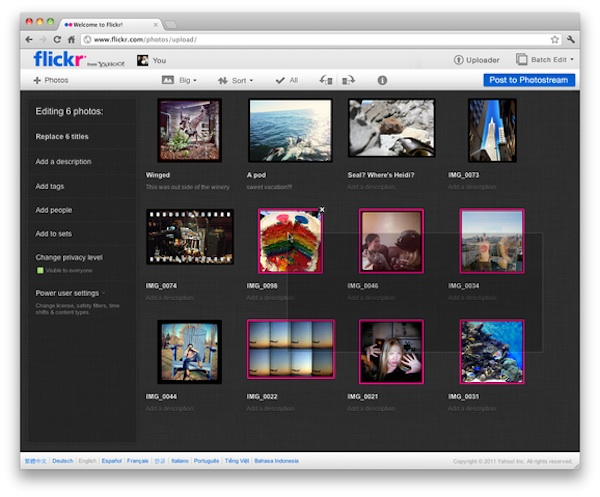 flickr upload app Flickr renovará su interfaz muy pronto