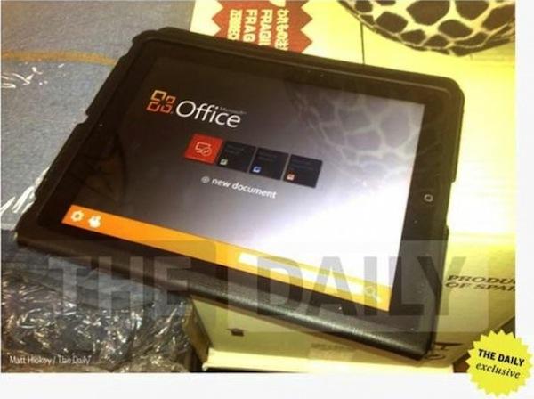 Microsoft Office para iPad llegaría muy pronto a la App Store