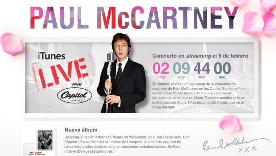 Paul McCartney dará un concierto en streaming por iTunes Live - paul-mccartney-streaming-concert