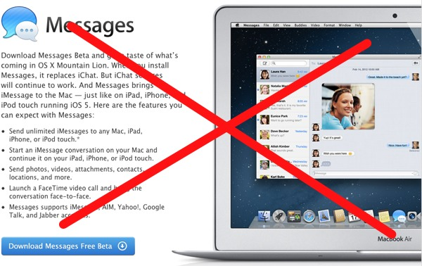 Como desinstalar la versión beta de Messages e instalar iChat de nuevo [Mac] - quitar-messages-instalar-ichat