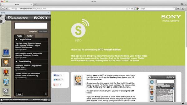 INTO Football, la nueva extensión de Sony que hace más social tu pasión por el fútbol - Into-football-sony-extension