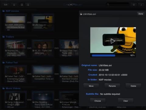 CineXPlayer: Reproduce XviD en tu iPad sin conversiones [Reseña] - cinexplayer-libreria