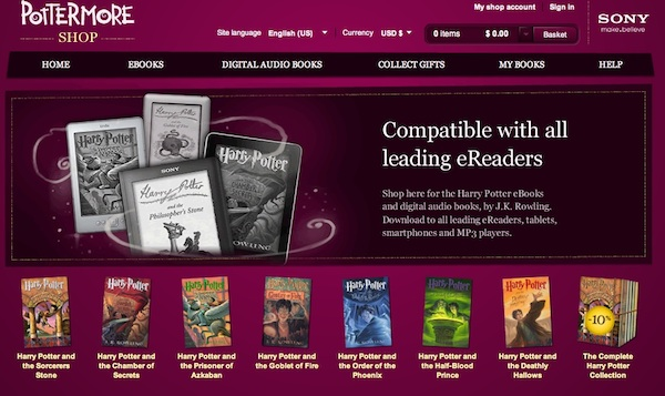 ebooks harry potter pottermore Los libros digitales oficiales de Harry Potter arriban en Pottermore