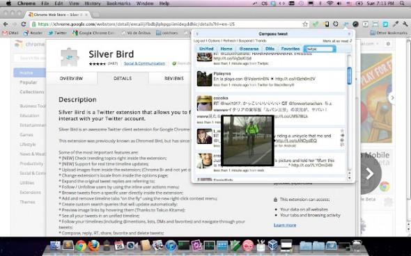 Extensiones de redes sociales para Google Chrome - silverbird-twitter-2-590x368