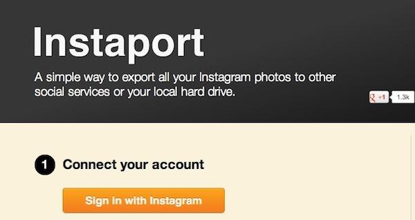Realiza una copia de seguridad de tus fotografías de Intagram con Instaport - Instaport