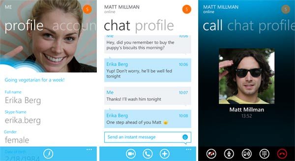 Skype para Windows Phone ya está disponible - Skype-windowsphone