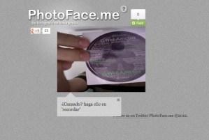 Tomar fotos rápidas con webcam con PhotoFace.me