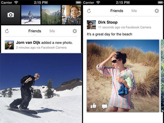 Facebook Camera para iPhone, la nueva aplicación de fotos de la red social - Facebook-camera-ios