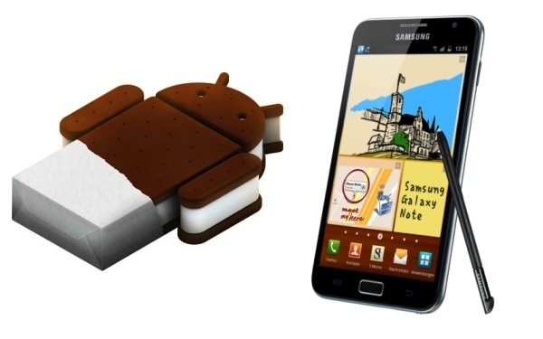 Actualización del Samsung Galaxy Note a Ice Scream Sandwich por fin disponible