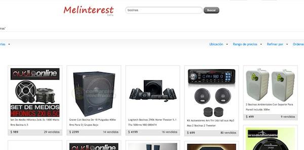 Navega en MercadoLibre como si fuese Pinterest con Melinterest - Melinterest