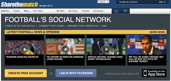 Share the Match, la red social de fútbol - Share-the-match
