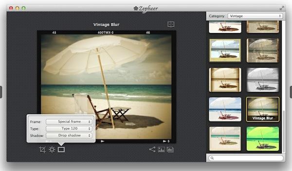 Zepheer app Crear fotos al estilo de Instagram en Mac con Zepheer
