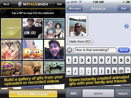 crear gifs iphone myfacewhen Crear Gifs animados en el iPhone con MyFaceWhen