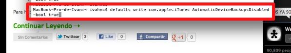 deshabilitar copia seguridad itunes 1 Cómo deshabilitar la copia de seguridad de iTunes al conectar un dispositivo con iOS [MAC]
