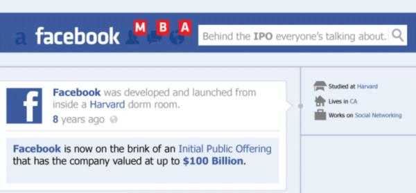 El valor de Facebook y su salida al Mercado de Valores [Infografía] - facebook-ipo-infographic