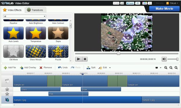 Editar videos online - filelab-video