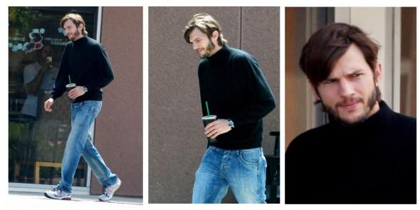 Ashton Kutcher es captado con ropa característica de Steve Jobs - kutcher-jobs-590x295