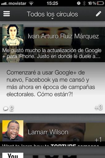 la foto 3 Google+ para iPhone se actualiza y luce increíble