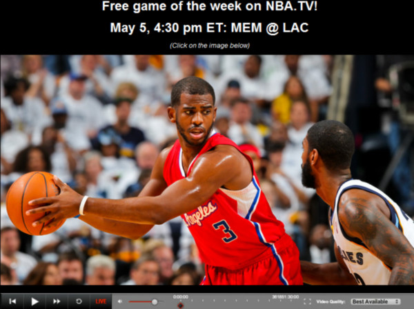 nba tv gratis Ver los Playoffs de la NBA en vivo, LA Clippers vs Memphis Grizzlies