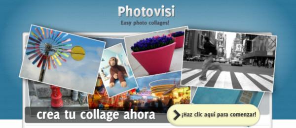 Crea collages de manera sencilla con Photovisi - photovisi