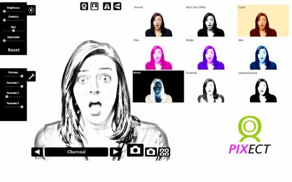 pixect webcam 590x368 Toma fotos con tu webcam y agrégales efectos con Pixect