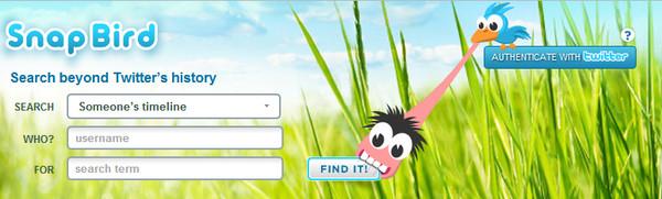 Busca entre tus viejos tweets con Snap Bird - snap-bird