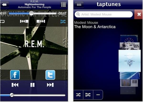 taptunes rerpoductor musica ios Escuchar música en iPhone / iPad