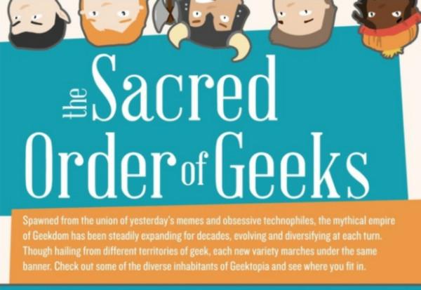 La Orden Sagrada de Geeks [Infografía] - tipos-geek