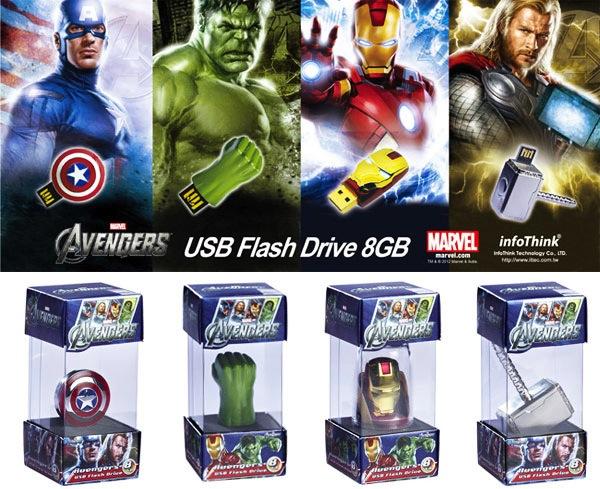 Impresionantes USB de The Avengers