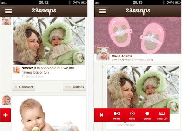 23snaps, una nueva red social familiar para iOS - 23snaps