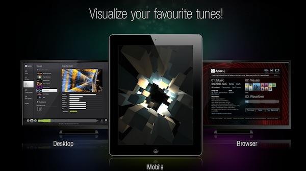 APEXvj, una sorprendente aplicación para visualizar música - APEXvj-apps