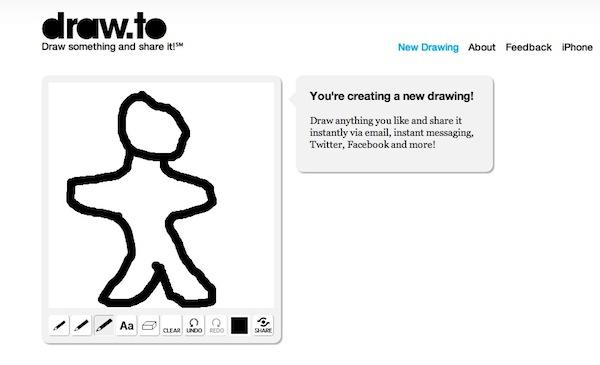 Draw to crear dibujos Crear dibujos y enviarlos a nuestros amigos con Draw.to