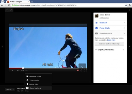 Google plus video subs Google+ ahora permite introducir subtítulos a los videos que compartamos