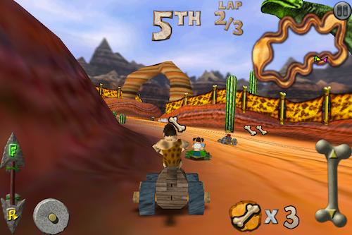 Cro-Mag Rally, un juego al estilo Mario Kart en tu iPhone/iPod