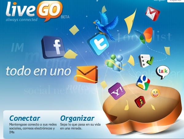 LiveGo messenger Messenger online, algunas opciones