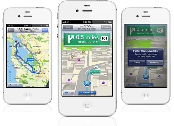 Waze, otras compañías y los propios usuarios, dotan las nuevas características de los Mapas de iOS 6 - Mapas-ios-6