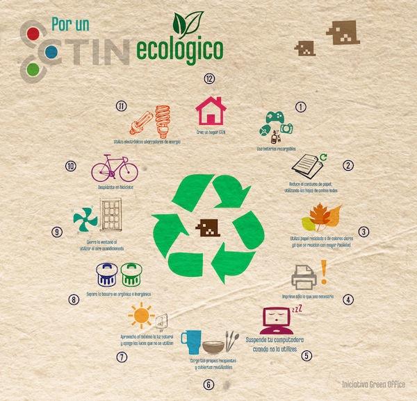 Consejos para tener una oficina más ecológica [Infografía] - Oficina-verde