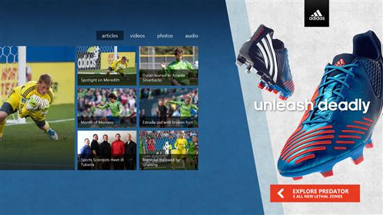 Se muestra como funcionaría la publicidad dentro de las apps Metro en Windows 8 - adidas-microsoft-ads