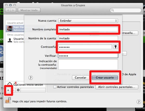 agregar usuarios mac 3 Cómo crear más cuentas de usuario en Mac